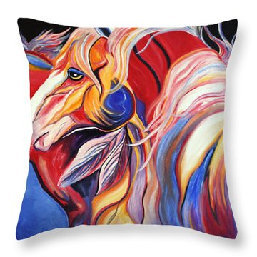 Paint Horse Colorful Spirits Throw Pillow