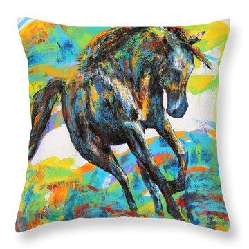 Paint Horse Throw Pillow by Jennifer Godshalk