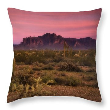 Paint It Pink Sunset  Throw Pillow by Saija  Lehtonen