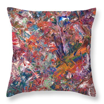 Paint Number 50 Throw Pillow by James W Johnson