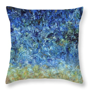 Paint Number 59 Throw Pillow by James W Johnson