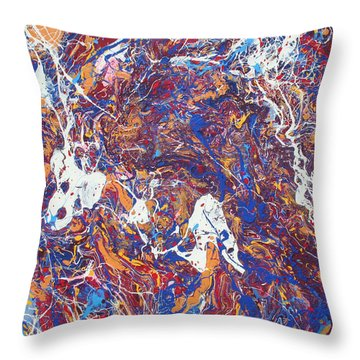Paint Number Five Throw Pillow by Ric Bascobert