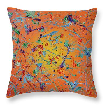 Paint Number Thirty Seven Throw Pillow