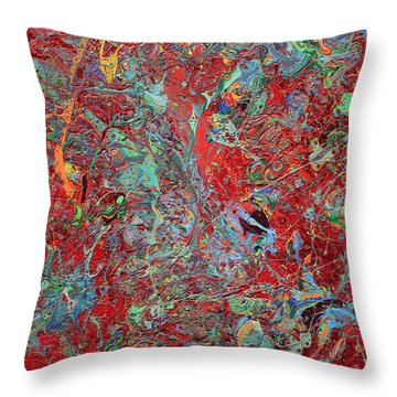 Paint Number Twenty Five Throw Pillow