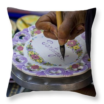 Paint On Plates Throw Pillow