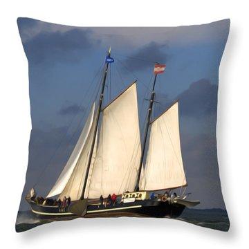 Paint Sail Throw Pillow