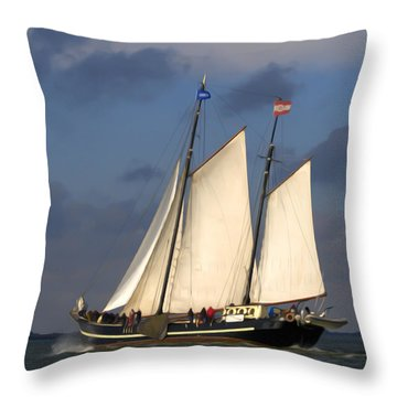Throw Pillow featuring the photograph Paint Sail by Luc Van de Steeg