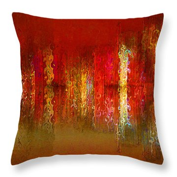 Paint The Town Red Throw Pillow by Stuart Turnbull