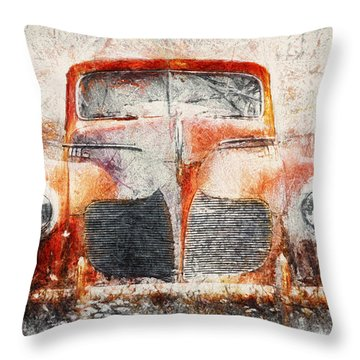 Painted 1940 Desoto Deluxe Throw Pillow