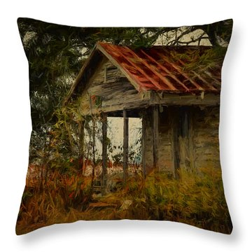 Painted Yesterday House Throw Pillow