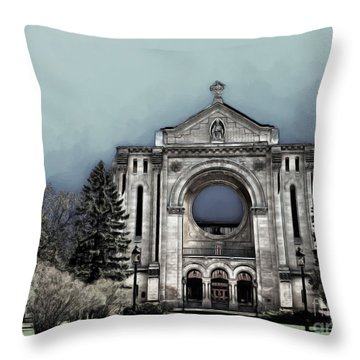 Painted Basilica 2 Throw Pillow by Teresa Zieba