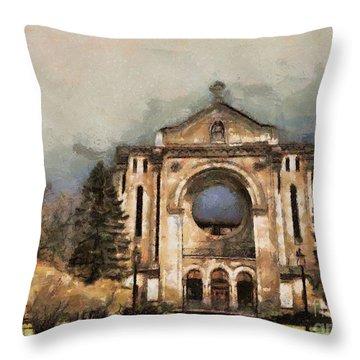 Painted Basilica Throw Pillow by Teresa Zieba