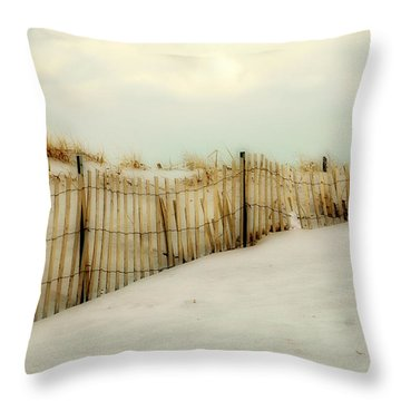 Painted Beach Throw Pillow