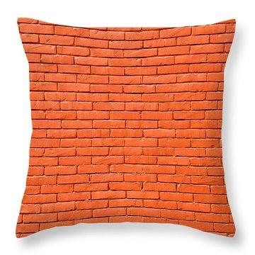 Painted Brick Wall Throw Pillow
