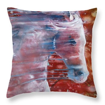 Throw Pillow featuring the painting Painted By The Wind by Jani Freimann