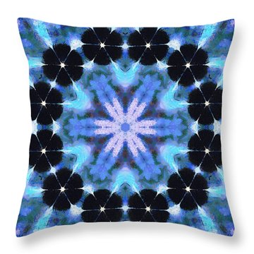 Painted Cymatics 108.00hz Throw Pillow by Derek Gedney