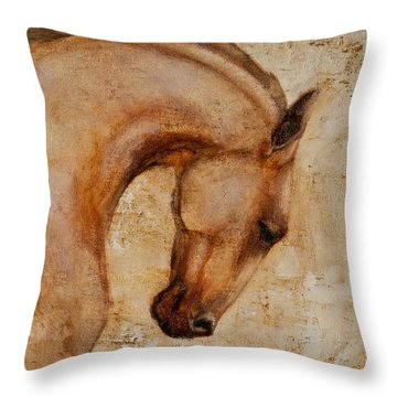 Painted Determination 1 Throw Pillow
