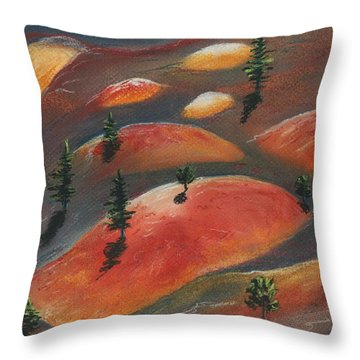 Painted Dunes Throw Pillow by Anastasiya Malakhova