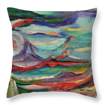 Painted Earth Throw Pillow by Heather Kertzer