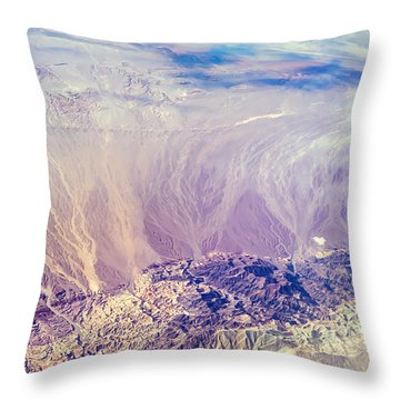 Painted Earth I Throw Pillow by Jenny Rainbow