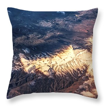 Painted Earth Iv Throw Pillow by Jenny Rainbow