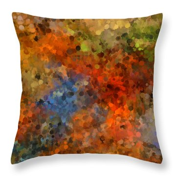 Painted Fall Abstract Throw Pillow
