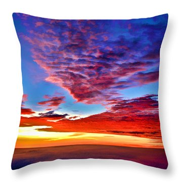 Painted Heavens Throw Pillow
