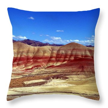 Painted Hills Throw Pillow by Chalet Roome-Rigdon