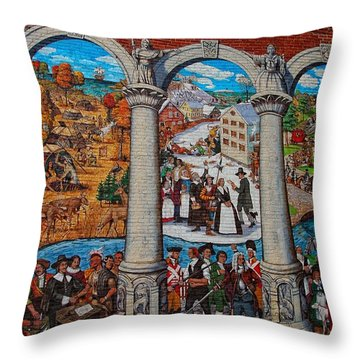 Painted History 2 Throw Pillow by Joann Vitali
