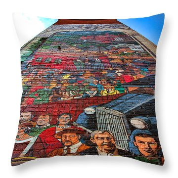 Painted History 3 Throw Pillow by Joann Vitali
