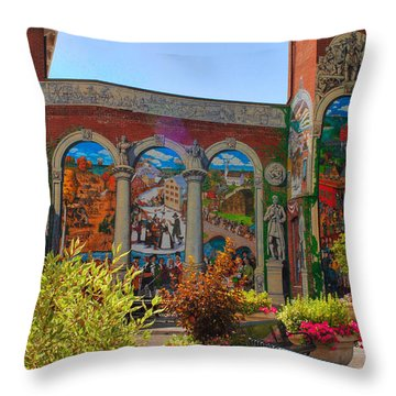 Painted History 4 Throw Pillow by Joann Vitali