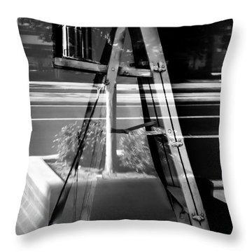 Throw Pillow featuring the photograph Painted Illusions - Abstract by Steven Milner