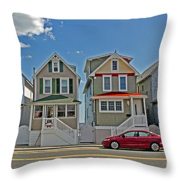 Painted Ladies Of Somers Point Throw Pillow