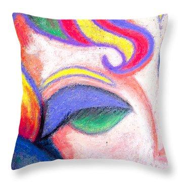 Painted Lady Graffiti Street Art Throw Pillow