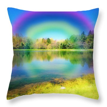 Painted Paradise Throw Pillow by Cindy Haggerty