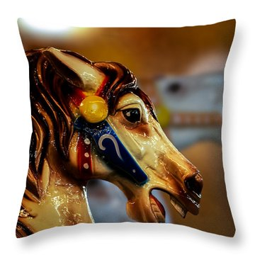 Painted Pony  Throw Pillow by Bob Orsillo