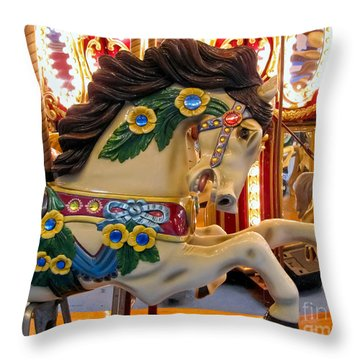 Painted Pony - Roam Throw Pillow by Colleen Kammerer