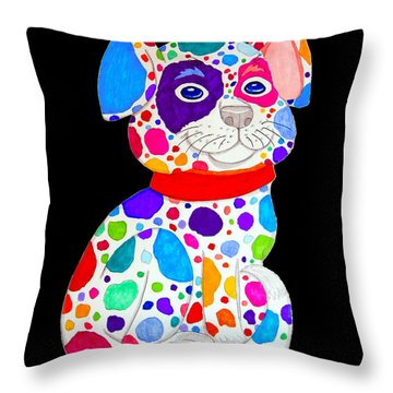 Painted Pooch 2 Throw Pillow by Nick Gustafson