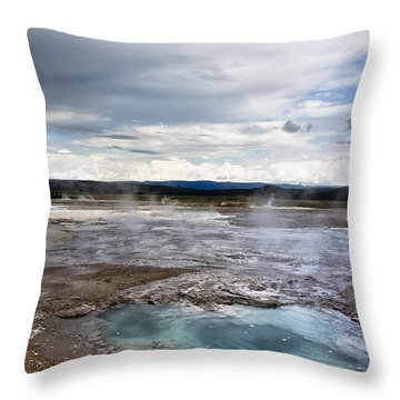Paint Pots Throw Pillow by Belinda Greb