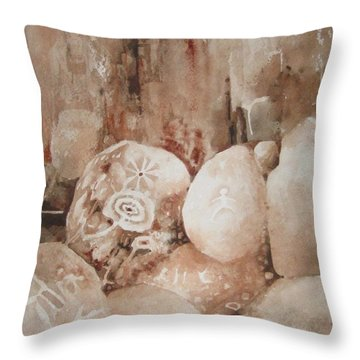 Painted Rocks Ll Throw Pillow