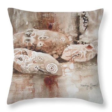 Painted Rocks Throw Pillow
