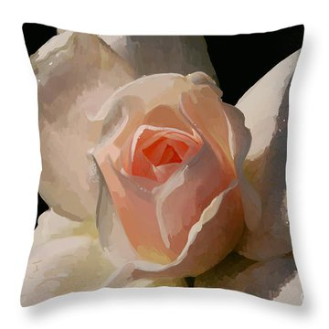 Painted Rose Throw Pillow by Lois Bryan