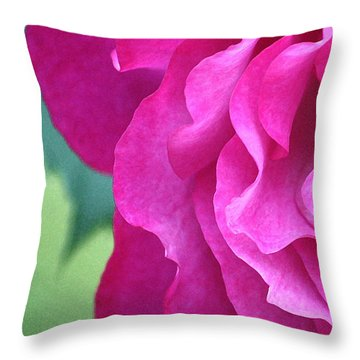 Throw Pillow featuring the photograph Painted Rose by The Art Of Marilyn Ridoutt-Greene