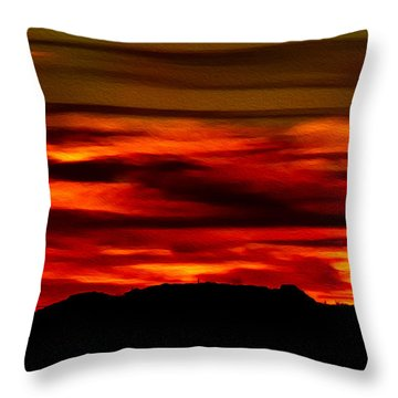 Throw Pillow featuring the photograph Painted Sky 34 by Mark Myhaver