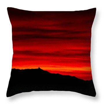 Throw Pillow featuring the photograph Painted Sky 36 by Mark Myhaver