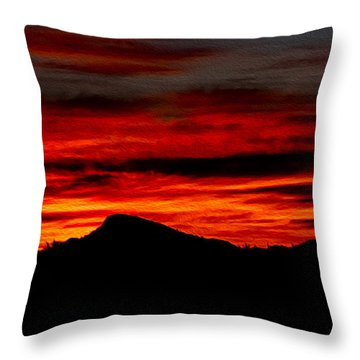 Throw Pillow featuring the photograph Painted Sky 45 by Mark Myhaver