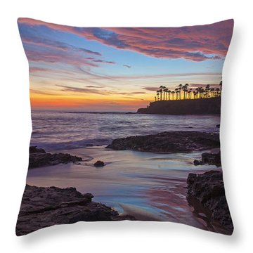 Painted Sky Laguna Beach Throw Pillow