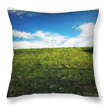 Painted Sky Throw Pillow by Linda Woods