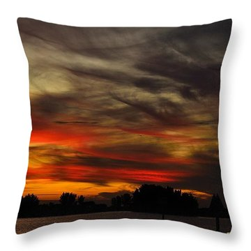 Throw Pillow featuring the photograph Painted Sky by Richard Zentner