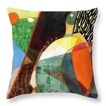Painted Turtle Sunning Throw Pillow